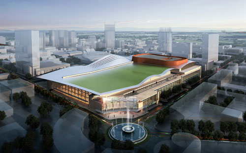 rendering of the new music city center scheduled to open spring 2013