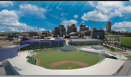 an artist rendering of the new sounds stadium